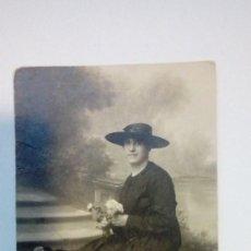 Fotografía antigua: TARJETA POSTAL RETRATO DE MUJER AÑOS 20. Lote 184116578