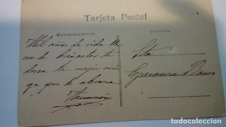 Fotografía antigua: TARJETA POSTAL ANTIGUA RETRATO DE MUJER CON FLORES CIRCULADA AÑOS 20 - Foto 2 - 184119031