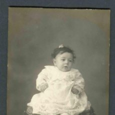 Fotografía antigua: BEBÉ. F: GANGLÁ. ANTIGUA CASA MARINÉ. BCN. C.1920. Lote 184398091