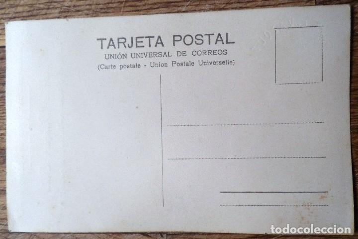 Fotografía antigua: postal fotográfica de una niña en el día de su primera comunión, tarifa 1930 - Foto 2 - 184456716