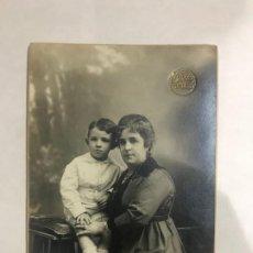 Fotografía antigua: 1920'S - FOTOGRAFÍA NYSSEN - BARCELONA - MADRE CON HIJO. Lote 184569681