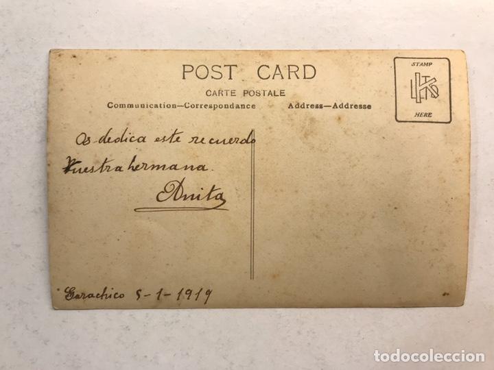 Fotografía antigua: GARACHICO (Tenerife) Fotografía antigua. ANITA, en recuerdo para sus hermanos (a.1919) - Foto 2 - 185660300