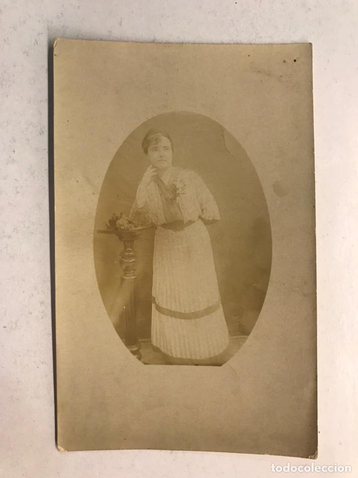GARACHICO (TENERIFE) FOTOGRAFÍA ANTIGUA. ANITA, EN RECUERDO PARA SUS HERMANOS (A.1919) (Fotografía Antigua - Tarjeta Postal)