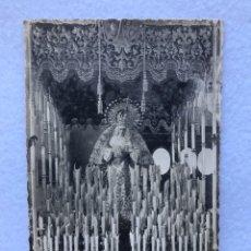 Fotografía antigua: SEMANA SANTA SEVILLA. ANTIGUA POSTAL FOTOGRÁFICA VIRGEN LAS LÁGRIMAS, SANTA CATALINA. Lote 185976491