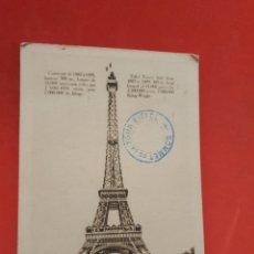 Fotografía antigua: LA TOUR EIFFEL.PARIS.CIRCULADA.. Lote 185976518