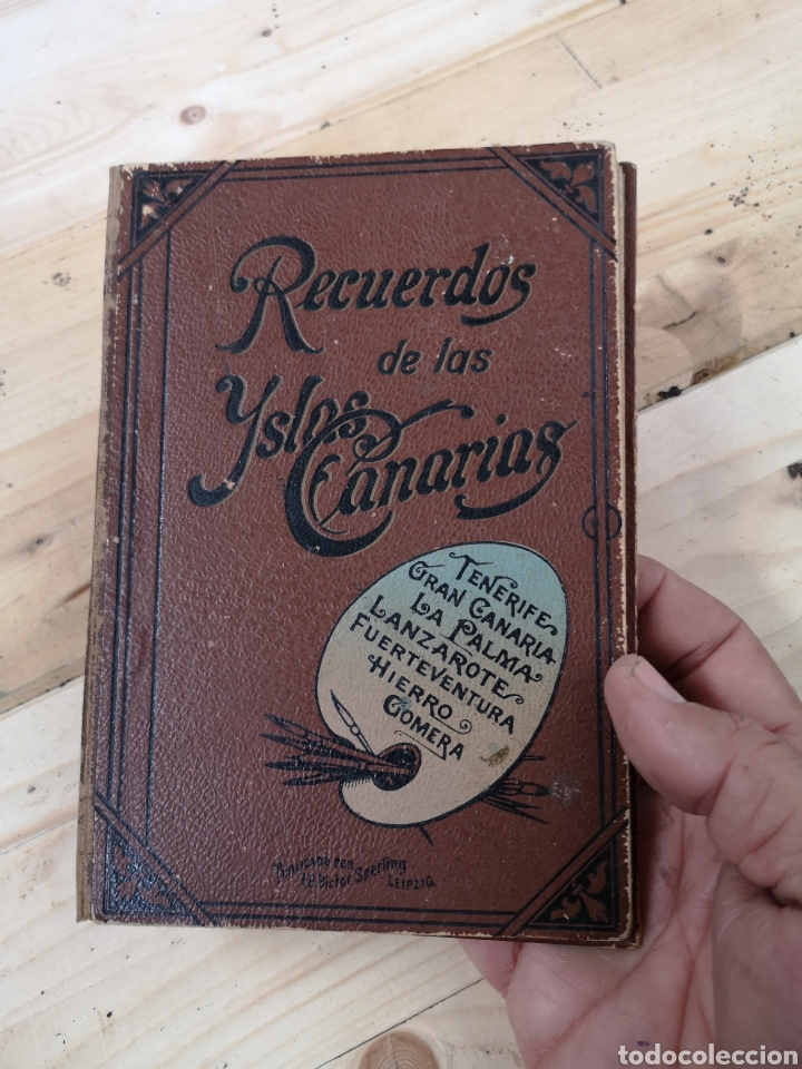 PRECIOSO ÁLBUM RECUERDO DE LAS ISLAS CANARIAS (Fotografía Antigua - Tarjeta Postal)