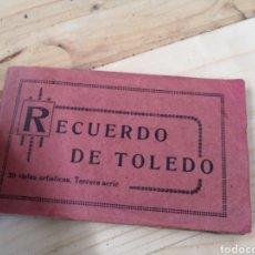Fotografía antigua: ANTIGUO LIBRILLO DE POSTALES DE TOLEDO. Lote 186050875