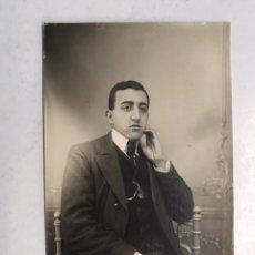 Fotografía antigua: VICH (BARCELONA) FOTOGRAFÍA, JOVEN APUESTO RETRATADO... FOTO: PALMAROLA (A.1918). Lote 186164825