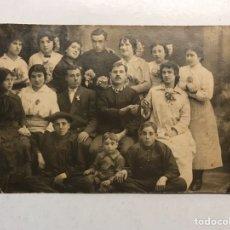 Fotografía antigua: LA VALENCIA QUE FUE.. FOTOGRAFÍA COSTUMBRISTA. GRAN GRUPO FAMILIAR (A.1916). Lote 186166243