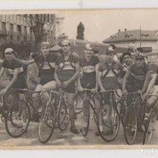 Fotografía antigua: TRES FOTOGRAFÍAS DE CICLISMO. PALENCIA. CICLISTAS. Lote 186176653
