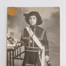 Fotografía antigua: ANTIGUA FOTOPOSTAL FOTOGRAFICA. NIÑA. COLON. W. Lote 187187320
