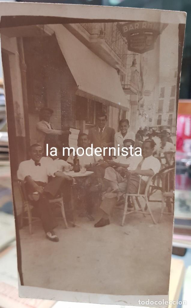 ANTIGUA POSTAL BAR RHIN MURCIA (Fotografía Antigua - Tarjeta Postal)