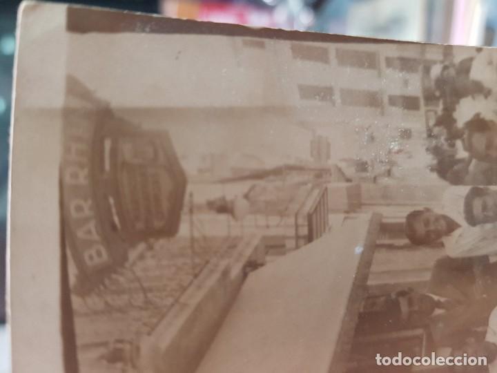 Fotografía antigua: ANTIGUA POSTAL BAR RHIN MURCIA - Foto 2 - 188479007