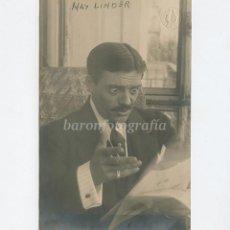 Fotografía antigua: MAX LINDER (1883-1925) ACTOR DE CINE MUDO, FOTO: AMADEO, BARCELONA.. Lote 189714843