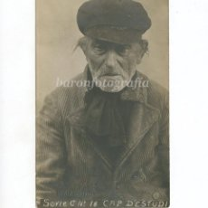 Fotografía antigua: RETRATO DE PESCADOR DE LA ESCALA, FOTO: ESQUIROL, LA ESCALA. CAP D'ESTUDI, NUM. 18.. Lote 189714897