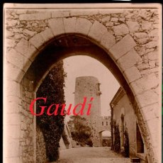 Fotografía antigua: GAUDÍ - BODEGAS GÜELL - GARRAF - 1910'S - POSTAL FOTOGRÁFICA. Lote 189899988