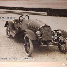 Fotografía antigua: FOTOGRAFIA PROMOCION AUTOMOVIL ANTIGUO CYCLECAR DYG. CONSTRUCTORES DIAZ Y GRILLÓ. BARCELONA. Lote 190079173