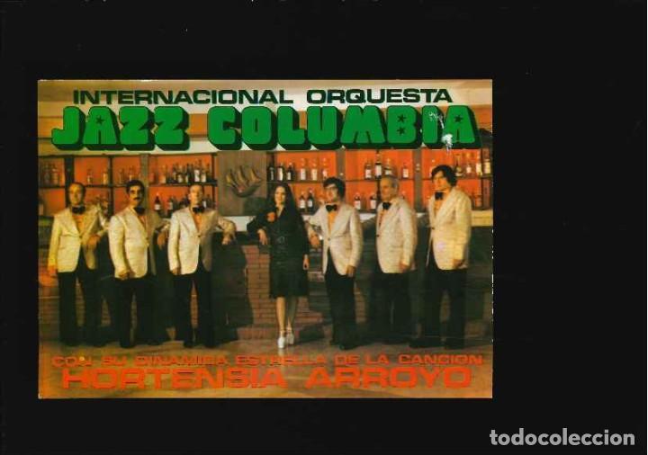 GRUPO MUSICAL INTERNACIONAL ORQUESTA JAZZ COLUMBIA (Fotografía Antigua - Tarjeta Postal)