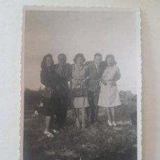 Fotografía antigua: RETRATO GRUPO MIXTO CINCO MADRID POSTAL FOTOGRAFICA. Lote 191396583