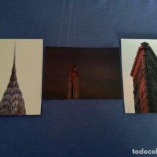 Fotografía antigua: 3 NUEVA YORK RASCACIELOS (FOTOFOLIO Z380, Z379, Z378) - 15,3 X 10,8 CM - REINHART WOLF (1930 - 1988). Lote 191604931