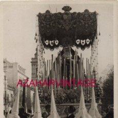 Fotografía antigua: SEMANA SANTA SEVILLA, AÑOS 20, ANTIGUA PALIO VIRGEN DE LOS ANGELES, LOS NEGRITOS,FOT.SERRANO. Lote 192119420