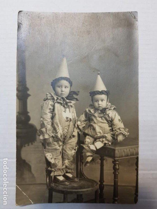 Fotografía antigua: Fotografía postal antigua Arlequines extraordinaria - Foto 3 - 193403442