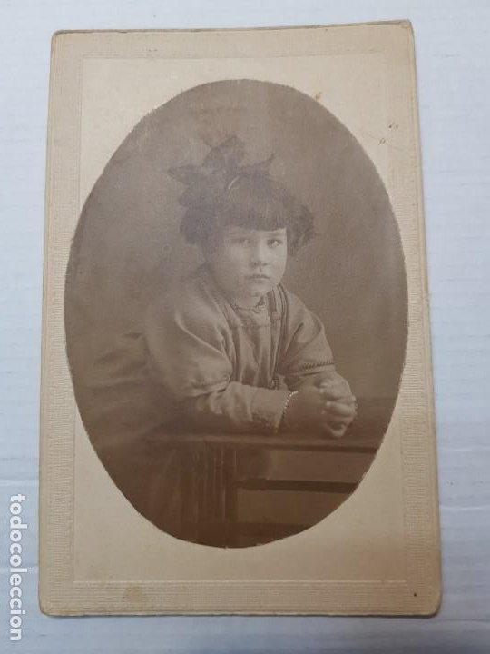 Fotografía antigua: Fotografía postal antigua Niña en Pupitre años 20 - Foto 3 - 193404546