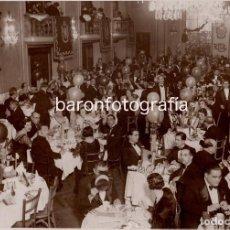 Fotografía antigua: HOTEL RITZ - BARCELONA. CENA DE CELEBRACIÓN POR IDENTIFICAR, 1930'S. FOTO: MATEO.. Lote 193783476