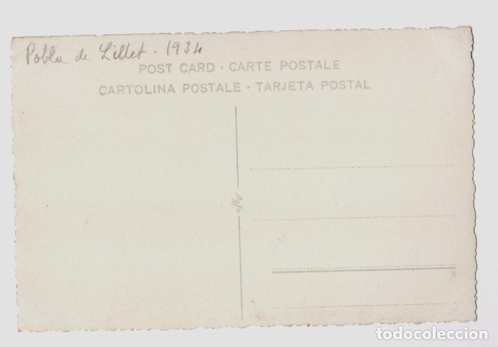 Fotografía antigua: POBLA DE LILLET AÑO 1934 - VISTA - Foto 2 - 193808225