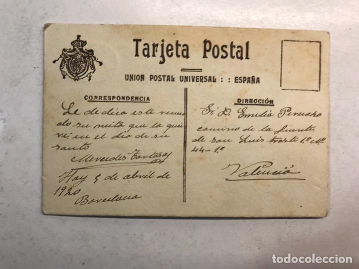 Fotografía antigua: NIÑOS, Fotografía antigua. La Niña Mercedes a su amada abuela... TALLER: ECLAIR (Barcelona a.1920) - Foto 2 - 194097930