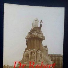 Fotografía antigua: BARCELONA - MONUMENTO A DR. ROBERT - POSTAL FOTOGRÁFICA . Lote 194200250