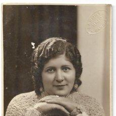 Fotografía antigua: BONITA FOTOGRAFÍA DE UNA CHICA - FOTÓGRAFO LAPORTA HIJO - GANDÍA (VALENCIA). Lote 194231045