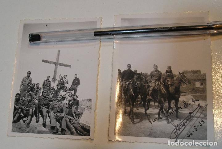 LOTE FOTO FOTOGRAFIAS LOTE DE 2 POST GUERRA CIVIL ,GRUPO SANIDAD MILITAR COMPAÑIA MIXTA (Fotografía Antigua - Tarjeta Postal)