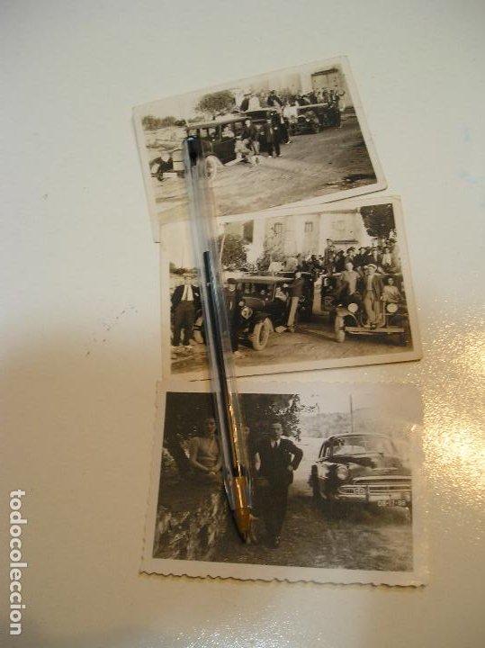 LOTE FOTO FOTOGRAFIA COCHES ANTIGUOS LOTE DE 3 FOTOS (20) (Fotografía Antigua - Tarjeta Postal)