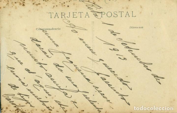 Fotografía antigua: GALICIA CORUÑA. RIBA. FOTO DE UNA DAMA. ESCRITA EN 1913. - Foto 2 - 194335626