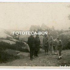 Fotografía antigua: FOTO ORIGINAL MONTAÑAS DE MONTSERRAT EXCURSIONISTAS AÑOS 20/30. Lote 194395715