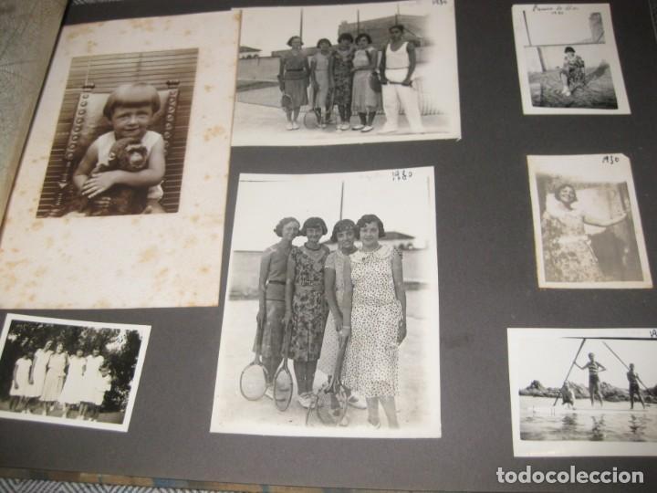 ALBUM FAMILIAR + 300 FOTOGRAFIAS FOTOS AÑOS 20 - 30 FELICES AÑOS 20 CATALUÑA PREMIA DE MAR PRECIOSO (Fotografía Antigua - Tarjeta Postal)