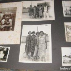 Fotografía antigua: ALBUM FAMILIAR + DE 300 FOTOGRAFIAS AÑOS 20 - 30 FELICES AÑOS 20 CATALUÑA . PREMIA DE MAR PRECIOSO. Lote 194527303