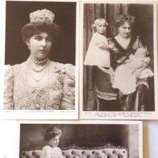 Fotografía antigua: F-4576. REINA VICTORIA EUGENIA . 3 FOTOS ROTARY PHOTO SERIES. DOS CON HIJOS CRISTINA Y JUAN. Lote 194624846