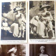 Fotografía antigua: F-4577. REINA VICTORIA EUGENIA . 4 FOTOS ROTARY PHOTO SERIES, Y FRANZEN.. DOS CON HIJOS JUAN Y BEATR. Lote 194625582