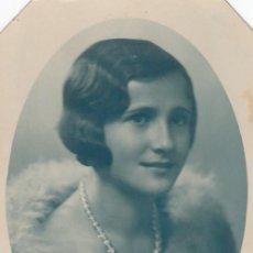 Fotografía antigua: TARJETA POSTÁL FOTOGRÁFICA. MUJER JOVEN. FOTOGRAFIA QUIJANO. SAN FERNANDO.. Lote 194628480