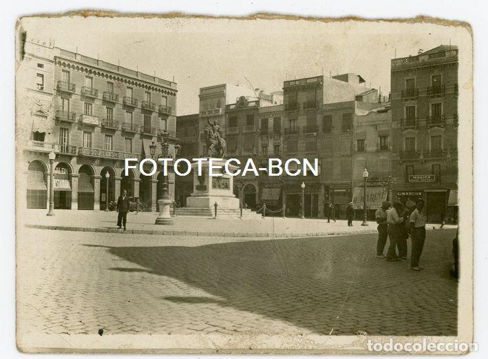 FOTO ORIGINAL REUS PL PRIM COMERCIOS DE EPOCA AÑOS 20/30 (Fotografía Antigua - Tarjeta Postal)