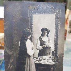 Fotografía antigua: ANTIGUA POSTAL MUJER PELO LARGO CIRCULADA A MURCIA . Lote 194750521