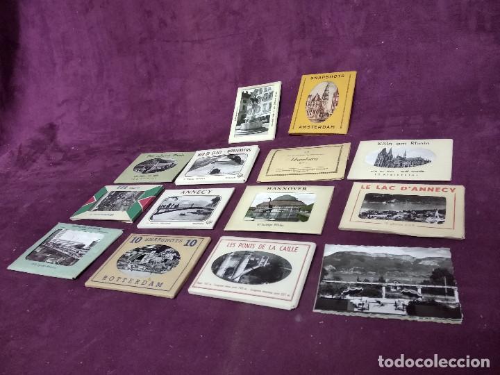 GRAN LOTE DE POSTALES, UNOS 14 LIBRITOS CON POSTALES, ANTIGUAS O VINTAGE, DIFERENTES PAÍSES (Fotografía Antigua - Tarjeta Postal)