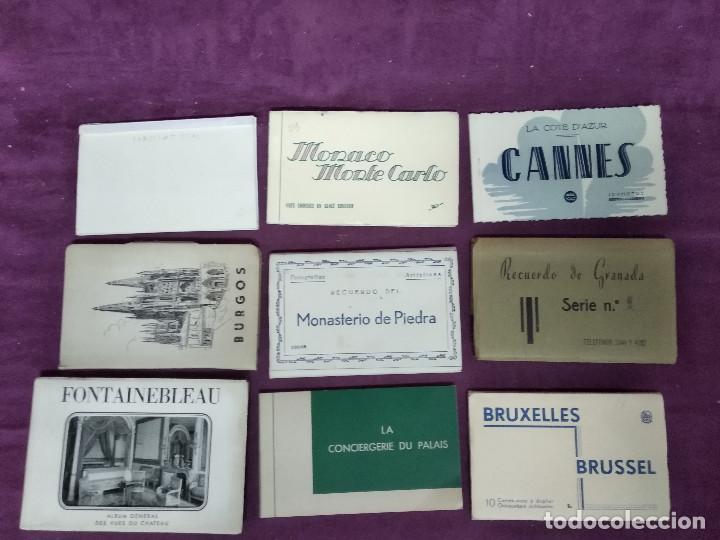 GRAN LOTE DE POSTALES, UNOS 9 LIBRITOS CON POSTALES, ANTIGUAS O VINTAGE, DIFERENTES PAÍSES (Fotografía Antigua - Tarjeta Postal)