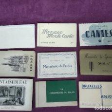 Fotografía antigua: GRAN LOTE DE POSTALES, UNOS 9 LIBRITOS CON POSTALES, ANTIGUAS O VINTAGE, DIFERENTES PAÍSES. Lote 194789568