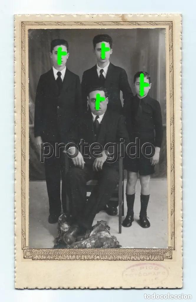 CABALLERO CON SUS HIJOS. PRINCIPIOS DEL SIGLO XX. S. PICÓ FOTÓGRAFO. ELCHE, ALICANTE. (Fotografía Antigua - Tarjeta Postal)
