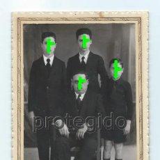 Fotografía antigua: CABALLERO CON SUS HIJOS. PRINCIPIOS DEL SIGLO XX. S. PICÓ FOTÓGRAFO. ELCHE, ALICANTE.. Lote 194865927