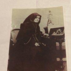 Fotografía antigua: ESTAMPA DE NOVENA A SANTA VICENTA MARÍA. FOTO INQUIETANTE.. Lote 195001672