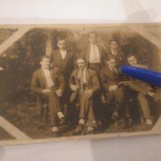 Fotografía antigua: FOTO POSTAL GRUPO DE HOMBRES ASTURIAS.. Lote 195052582